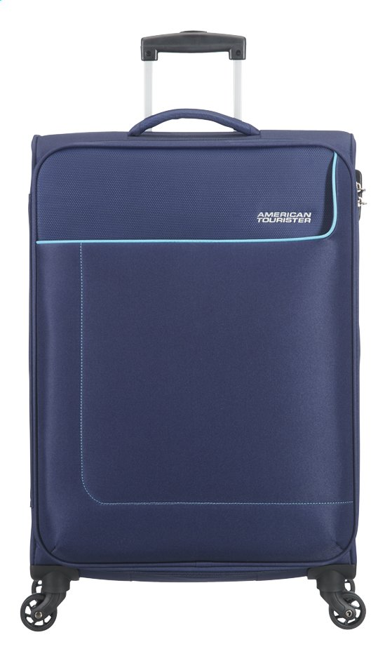 Afbeelding van American Tourister Zachte reistrolley Funshine Spinner orion blue 66 cm from ColliShop