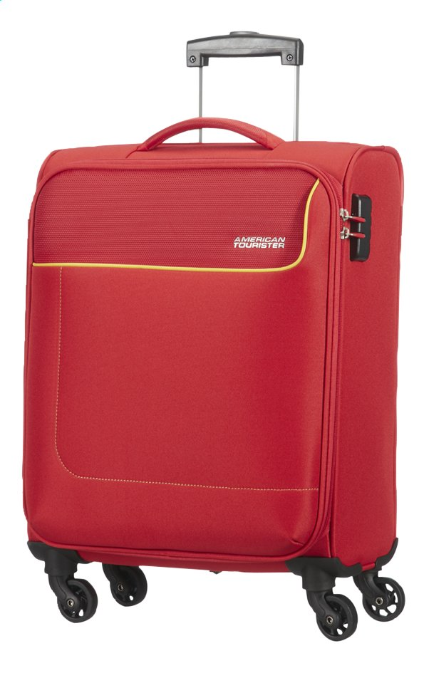 Afbeelding van American Tourister Zachte reistrolley Funshine Spinner rio red 55 cm from ColliShop