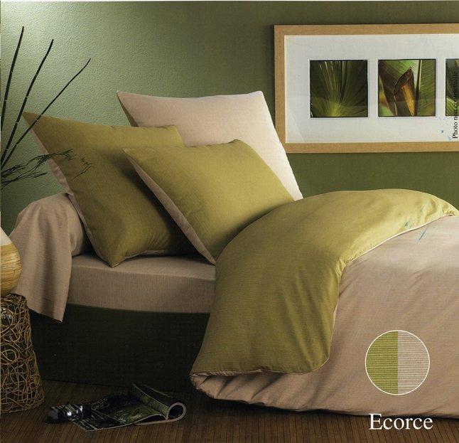 Image pour Origin housse de couette Ecorce vert bambou 260 x 240 cm à partir de ColliShop