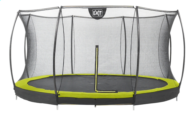 Image pour EXIT Trampoline enterré avec filet de sécurité Silhouette Ground lime à partir de ColliShop