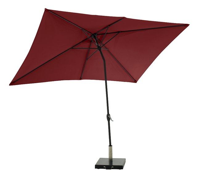 Afbeelding van Aluminium parasol 2 x 3 m bordeaux from ColliShop