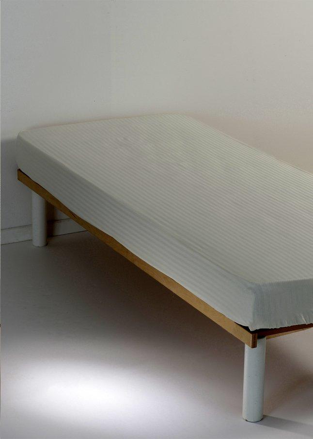 Sleepnight Hoeslaken Satinada vertical ivoor katoensatijn 160 x 200 cm