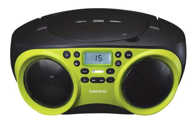 Image pour Lenco radio/lecteur CD SCD-200 lime à partir de ColliShop