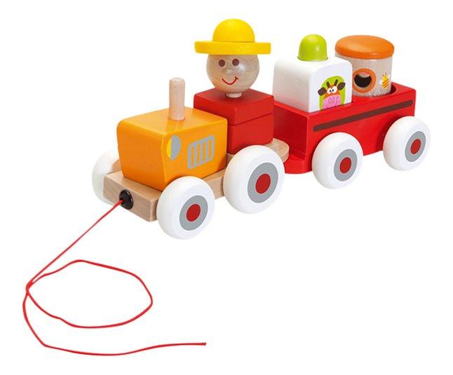Afbeelding van Scratch Europe houten trekspeeltje Tractor Charles from ColliShop
