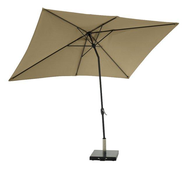 Afbeelding van Aluminium parasol 2 x 3 m taupe from ColliShop