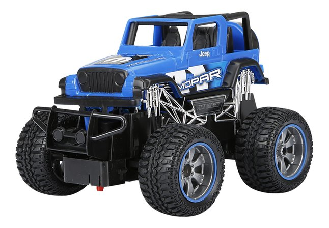New Bright jeep RC Chevrolet Mopar bleu