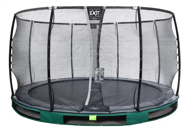 Image pour EXIT trampoline enterré avec filet de sécurité Elegant Ground Premium Deluxe Ø 3,66 m vert à partir de ColliShop