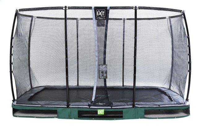 Image pour EXIT trampoline enterré avec filet de sécurité Elegant Ground Premium Deluxe L 3,66 x Lg 2,14 m vert à partir de ColliShop
