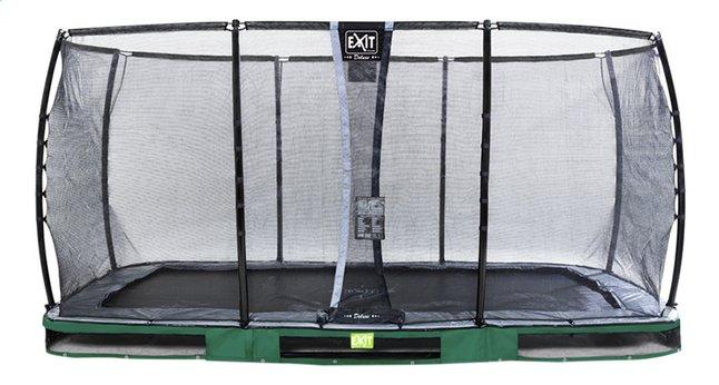 Image pour EXIT trampoline enterré avec filet de sécurité Elegant Ground Premium Deluxe L 4,27 x Lg 2,44 m vert à partir de ColliShop