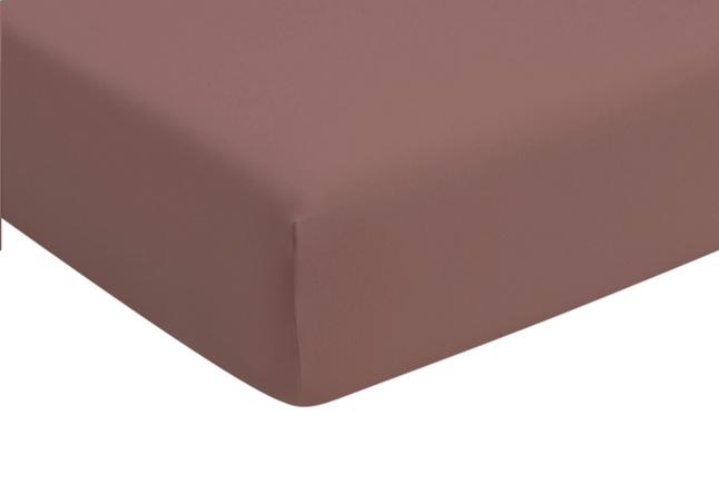 Image pour Romanette Drap-housse taupe jersey double à partir de ColliShop