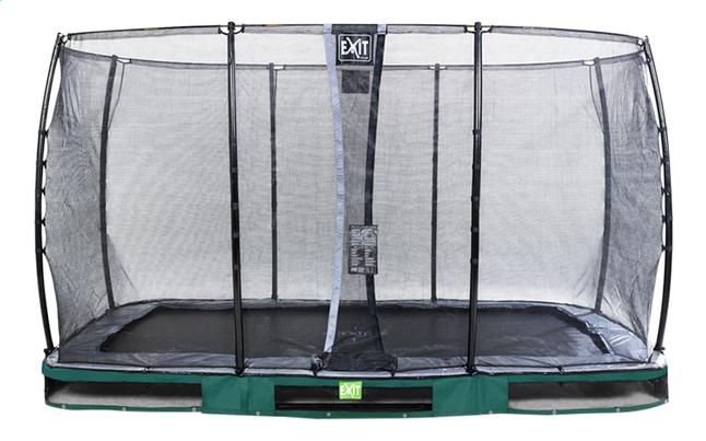 EXIT trampoline enterré avec filet de sécurité Elegant Ground Economy L 3,66 x Lg 2,14 m groen