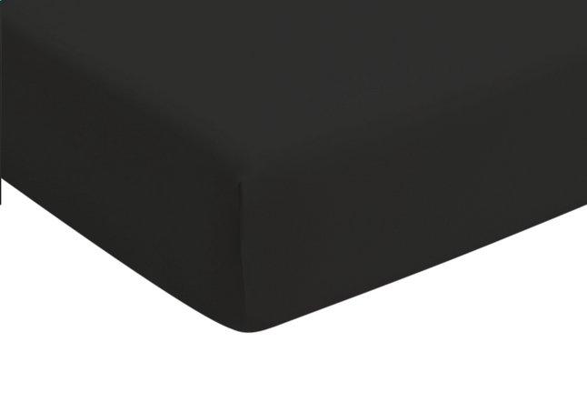 Romanette Drap-housse noir jersey double