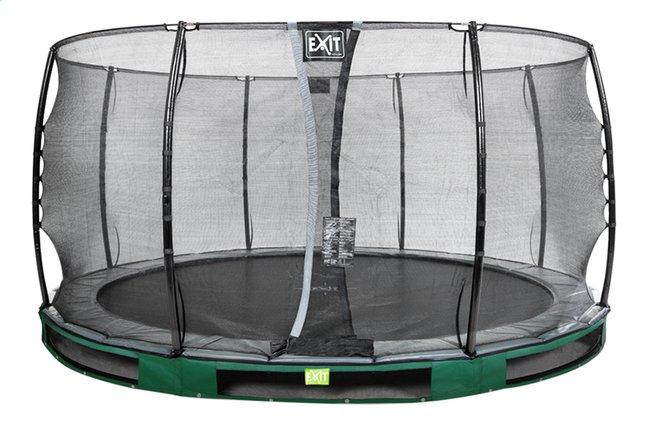 Afbeelding van EXIT inbouwtrampoline met veiligheidsnet Elegant Ground Economy diameter 4,27 m groen from ColliShop
