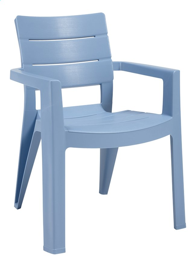 Allibert tuinstoel ibiza blauw collishop for Tuinstoelen plastic