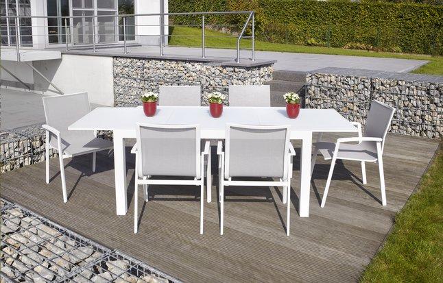 Image pour Ensemble de jardin Sevilla/Bondi blanc L 152 x Lg 90 cm à partir de ColliShop