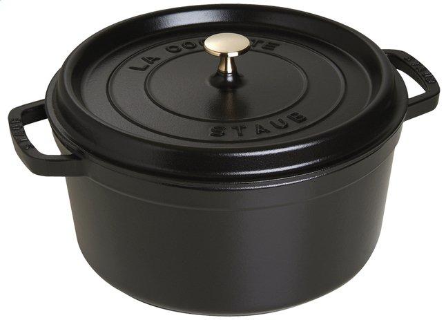 Image pour Staub cocotte ronde noir 26 cm - 5,2 l à partir de ColliShop