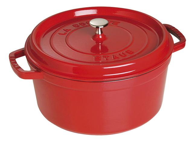 Image pour Staub Cocotte ronde rouge cerise à partir de ColliShop