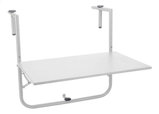 Image pour Table de balcon mat blanc 40 x 60 cm à partir de ColliShop