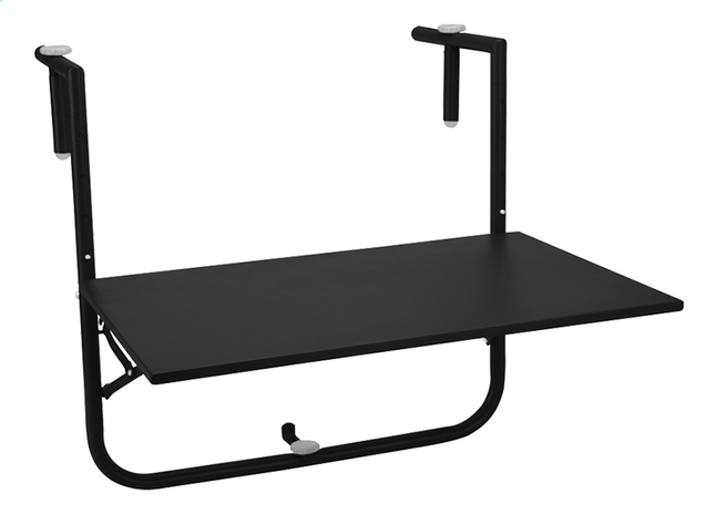 Image pour Table de balcon noir mat 40 x 60 cm à partir de ColliShop