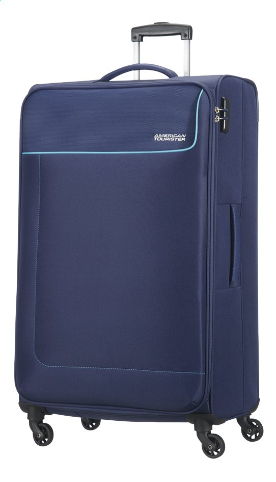 Afbeelding van American Tourister Zachte reistrolley Funshine Spinner orion blue 79 cm from ColliShop