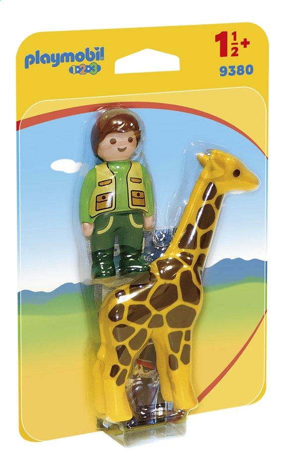 Image pour PLAYMOBIL 1.2.3 9380 Soigneur avec girafe à partir de ColliShop