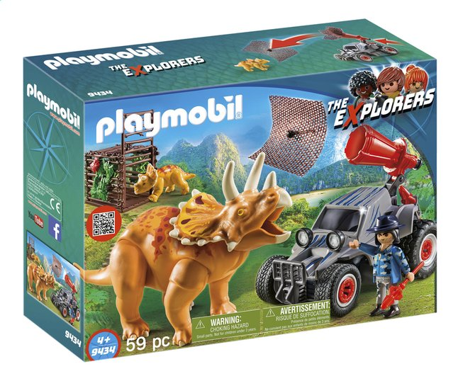 Image pour PLAYMOBIL The Explorers 9434 Bandit avec tricératops à partir de ColliShop
