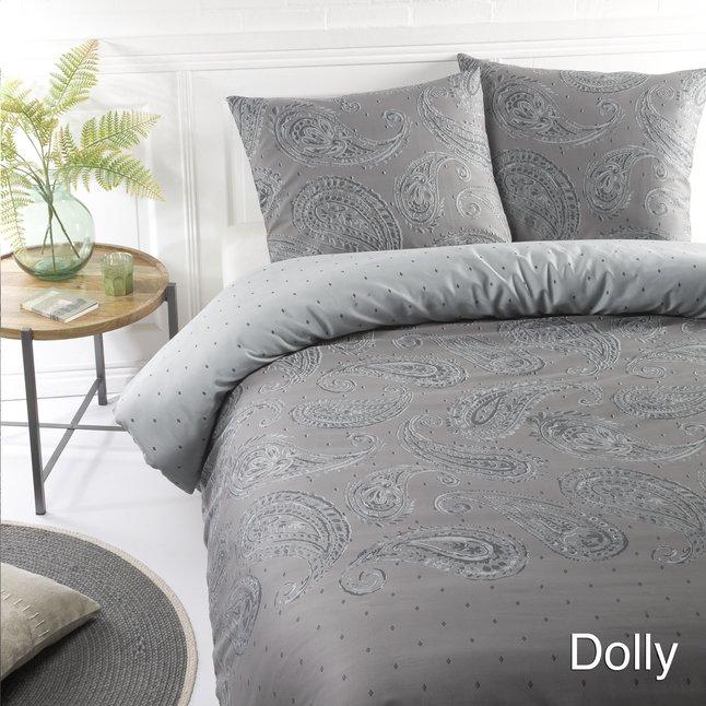 Afbeelding van Papillon Dekbedovertrek Dolly katoensatijn grijs from ColliShop