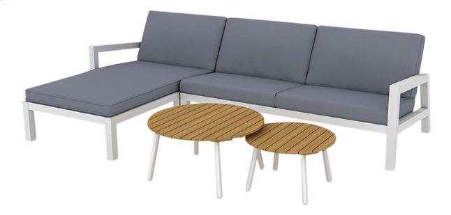 Image pour Suns Blue ensemble Lounge Lago 2 places droite + 2 tables de salon anthracite/blanc à partir de ColliShop