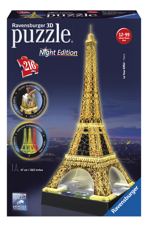 Afbeelding van Ravensburger 3D-puzzel Night Edition Eiffeltoren from ColliShop