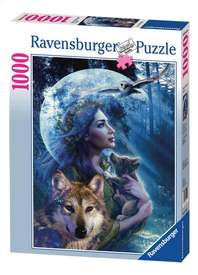 Afbeelding van Ravensburger puzzel Vrouw met wolven from ColliShop