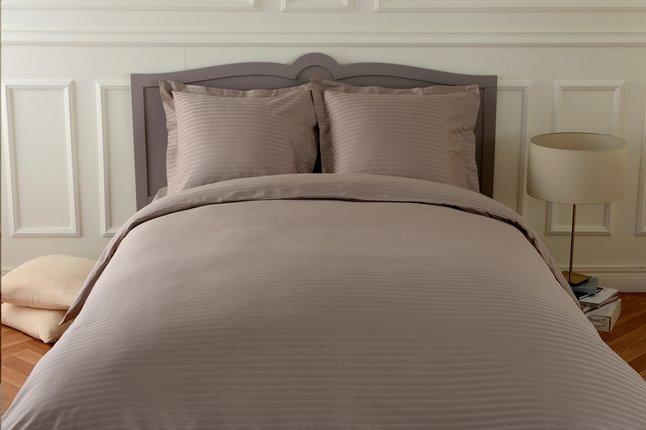 Image pour Sleepnight housse de couette Satinada en satin de coton taupe 200 x 220 cm à partir de ColliShop