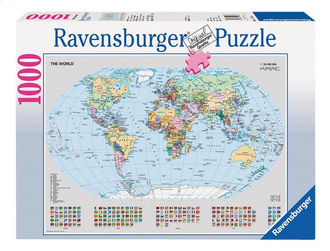 Image pour Ravensburger puzzle Carte du monde politique à partir de ColliShop