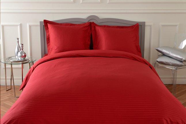 Afbeelding van Sleepnight dekbedovertrek Satinada katoensatijn rood 200 x 220 cm from ColliShop