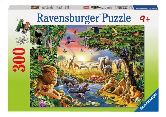 Afbeelding van Ravensburger puzzel Avondzon bij de drinkplaats from ColliShop