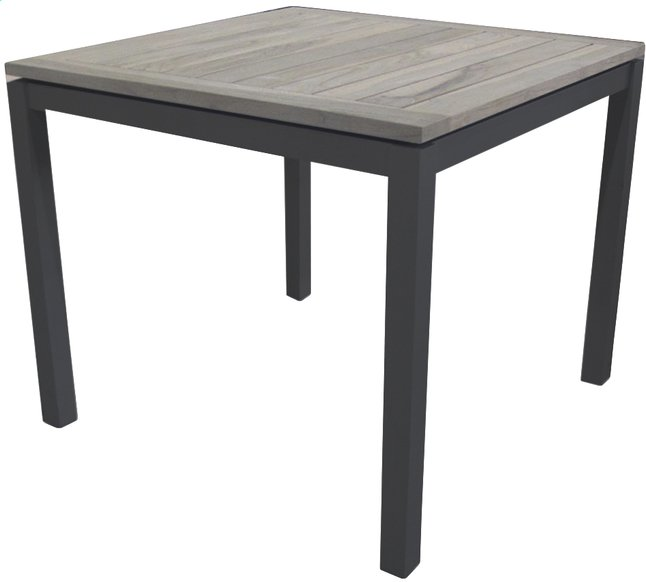 Image pour Table de jardin Marbella grey wash/anthracite L 90 x Lg 90 cm à partir de ColliShop