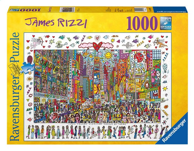Afbeelding van Ravensburger puzzel James Rizzi: Times Square from ColliShop