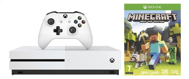 Afbeelding van Microsoft Xbox One S Console 1TB + Minecraft Xbox One edition from ColliShop