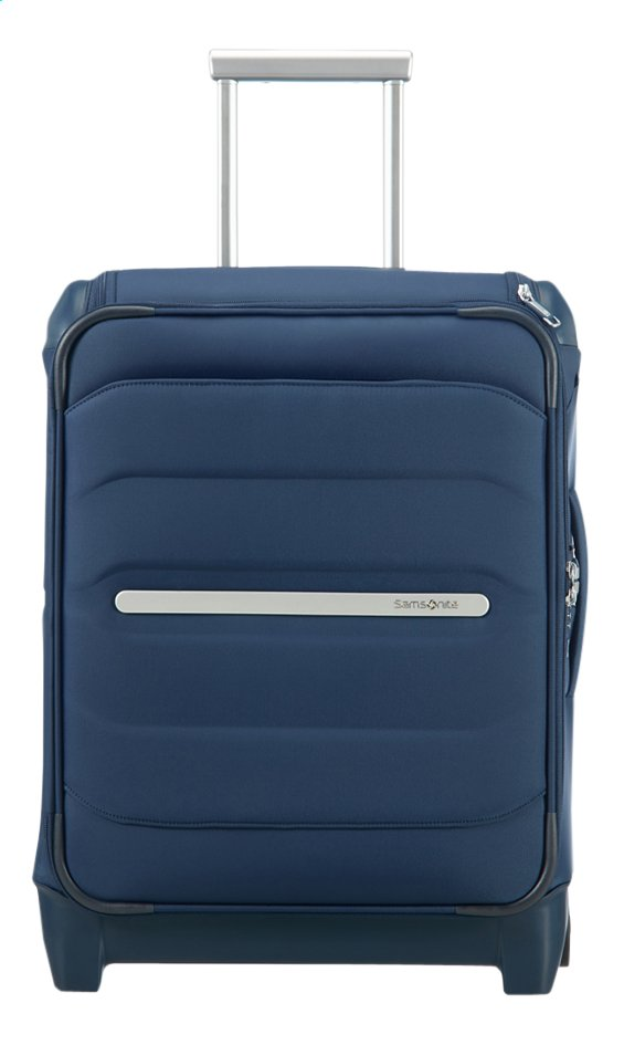Samsonite zachte reistrolley Flux Soft Upright Navy Blue 55 cm