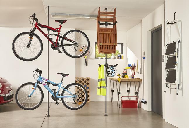 Afbeelding van Mottez Fietsenrek met telescopische paal voor 2 fietsen from ColliShop