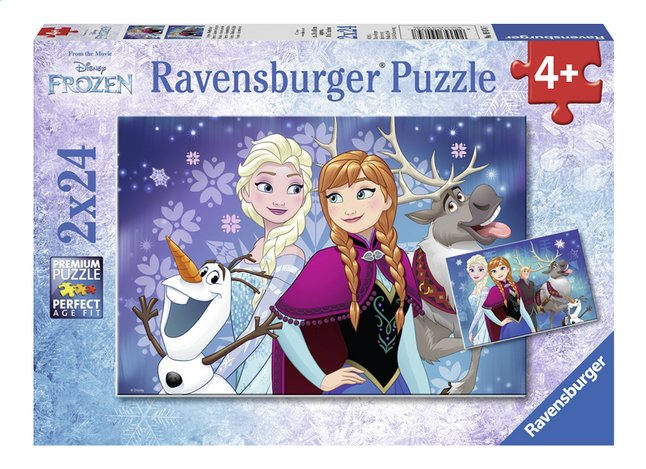 Ravensburger Puzzel 2-in-1 Disney Frozen Noorderlichten
