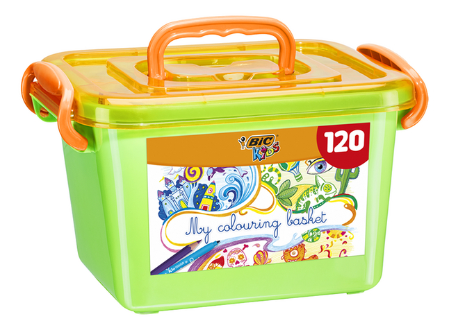 Bic My colouring basket - 120 pièces