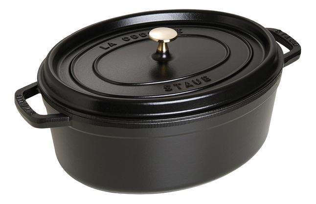 Image pour Staub cocotte ovale noir à partir de ColliShop