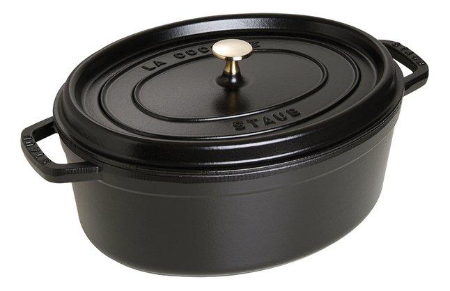 Afbeelding van Staub ovale stoofpan zwart 33 cm - 6,5 l from ColliShop