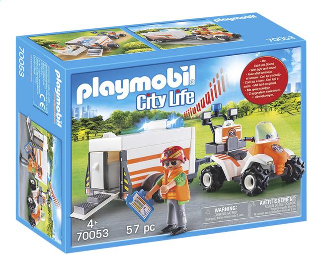 Afbeelding van PLAYMOBIL City Life 70053 Eerste hulp quad met trailer from ColliShop