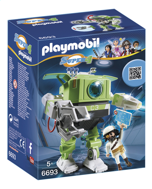 Afbeelding van PLAYMOBIL Super 4 6693 Cleano-Robot from ColliShop