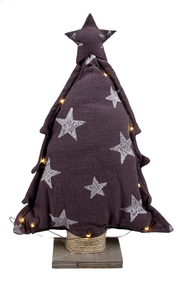 Afbeelding van Stoffen kerstboom met sterren donkergrijs 40 cm from ColliShop