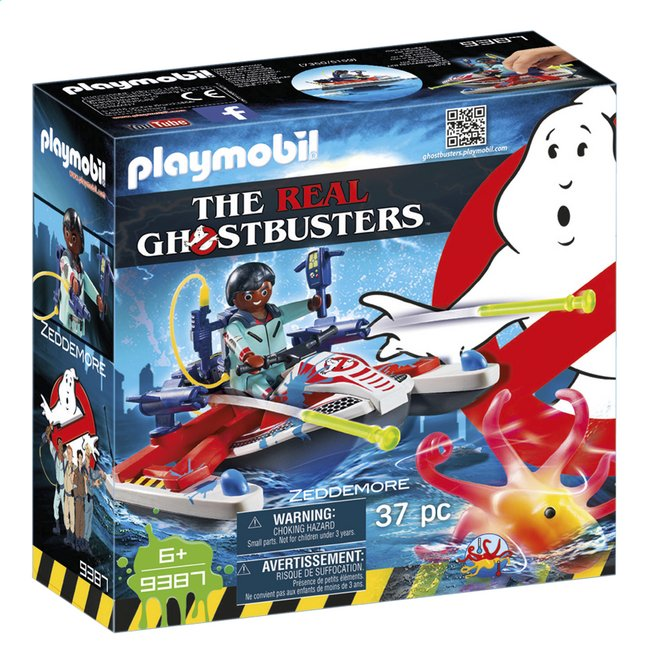 PLAYMOBIL Ghostbusters 9387 Zeddemore avec scooter des mers