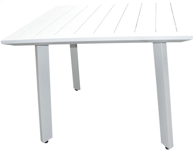 Table de jardin nice blanc 100 x 100 cm collishop - Table jardin nice tours ...