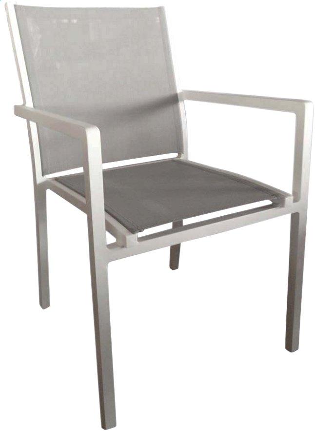 Image pour Chaise de jardin Mende gris clair/blanc à partir de ColliShop