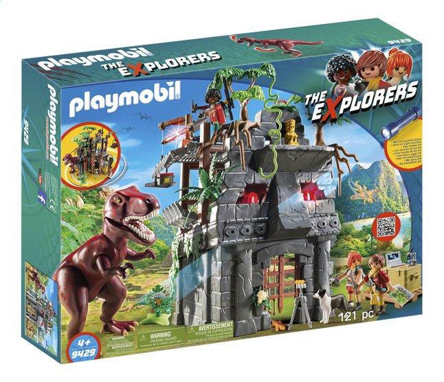 Afbeelding van PLAYMOBIL 9429 Basiskamp van de Explorers met T-Rex from ColliShop